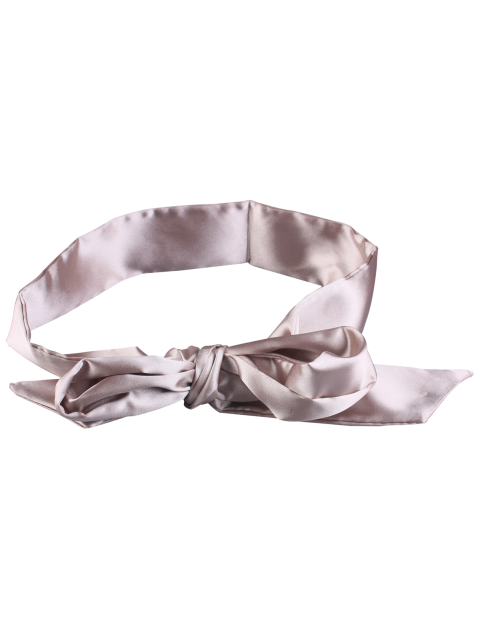 buy Knotted Satin Sash - LIGHT BEIGE  Mobile