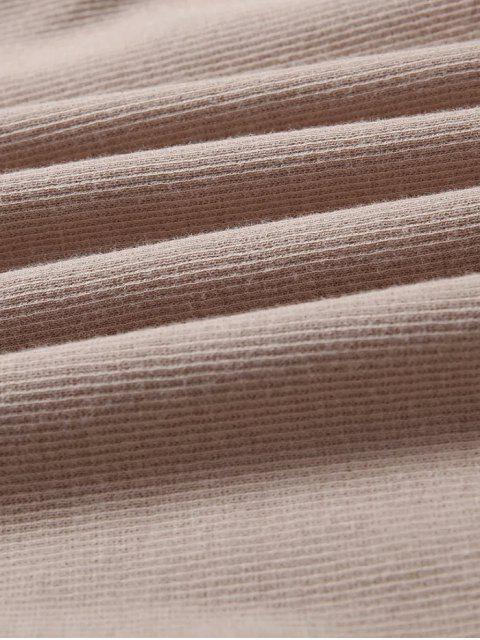 Robe enveloppe glissante col cache-cœur - Kaki Clair S Mobile