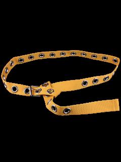 Grommet Canvas Belt - Yellow
