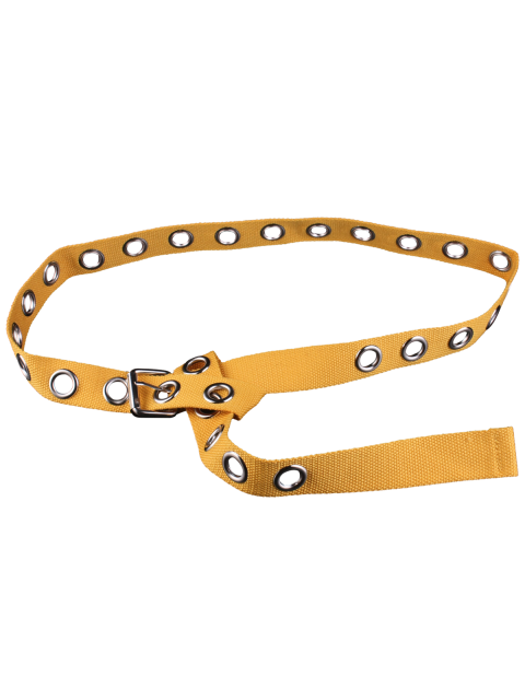 best Grommet Canvas Belt - YELLOW  Mobile
