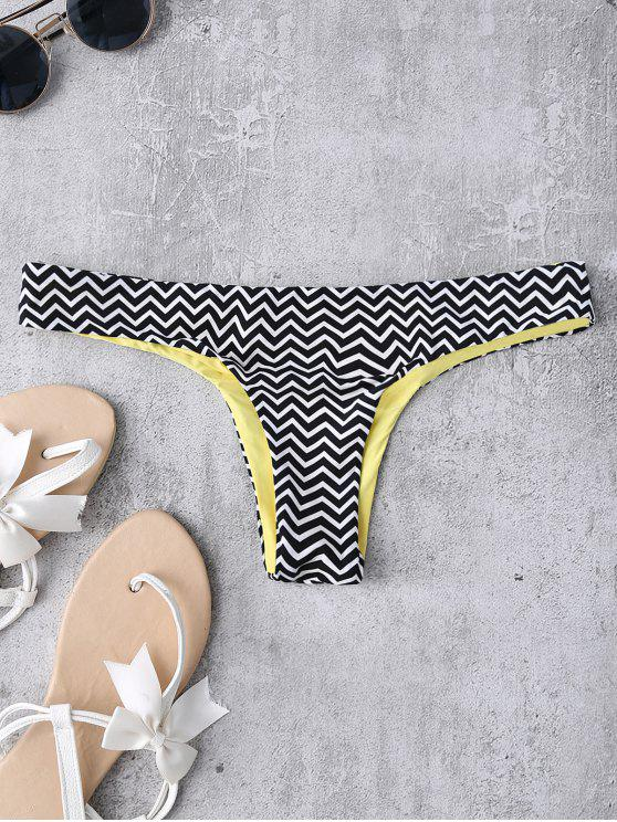 best Zig Zag Thong Swim Bottoms - STRIPE S
