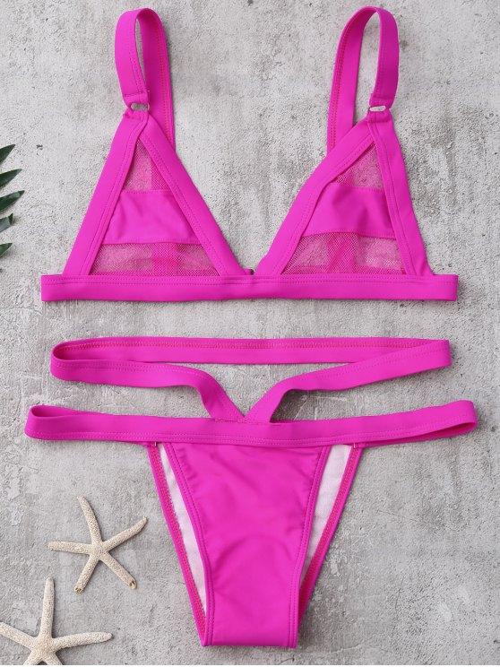 Bikini de Vendaje con Panel de Malla - Cientos de Fructosa S