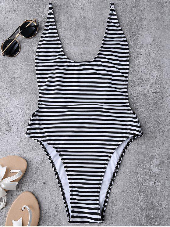 best Striped High Cut Swimwear - STRIPE M
