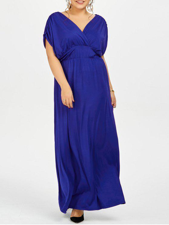 بالإضافة إلى حجم الإمبراطورية الخصر طويل مساء اللباس الرسمي - أزرق XL