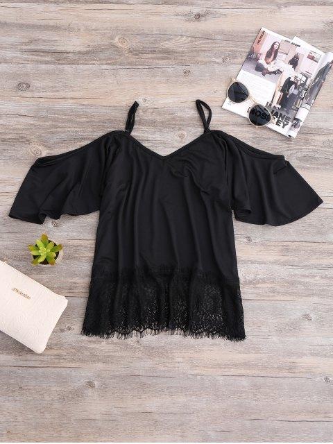 sale Cold Shoulder Camisole Top - BLACK S Mobile