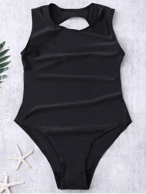 online Backless High Cut Swimwear - BLACK M Mobile