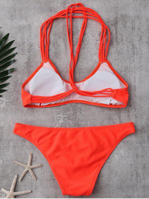 outfit Strappy T Back Padded Bathing Suit - JACINTH M Mobile