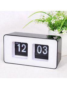 الرجعية الوجه رقم مكتب ساعة - أسود