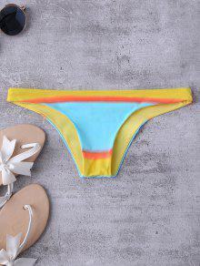 Bloque De Color Bikini De La Correa Bottoms - S