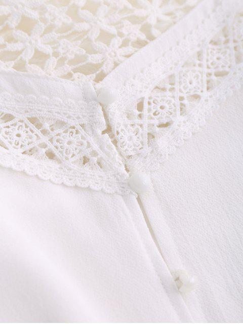 combibaison cami découpé à bretelles - Blanc L Mobile