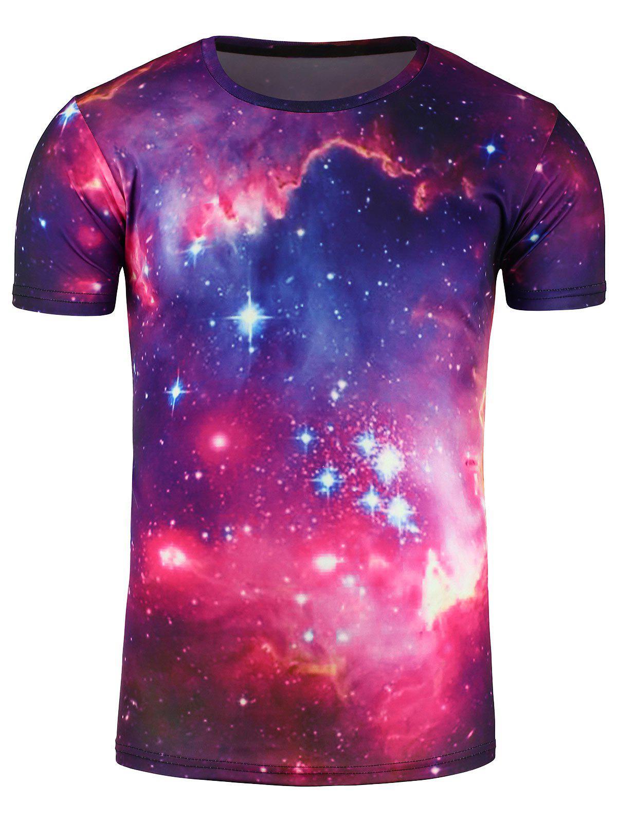 Ras du cou imprimé Galaxy 3D T-shirt