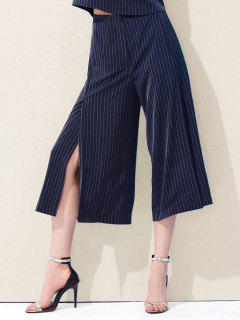 Slit Stripes Pantalon Large - Bleu Xs