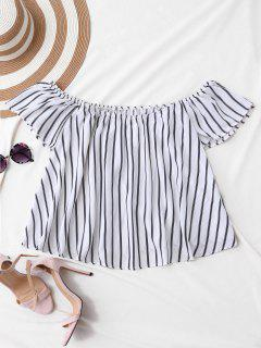 Flutter Off The Shoulder Top - White Xl