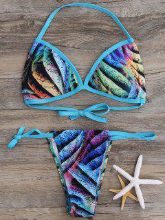 Allover Tanga Bikini De - Azul S