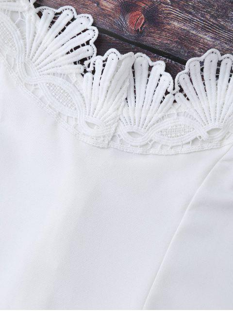 Body à épaules tombantes avec décoration de dentelle - Blanc L Mobile
