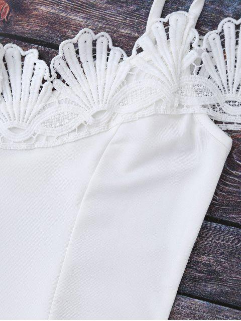 outfits Lace Trim Off The Shoulder Bodysuit - WHITE XL Mobile