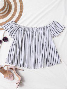 Flutter Off The Shoulder Top - White S