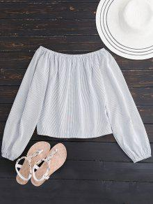 Long Sleeved Off The Shoulder Top - White S