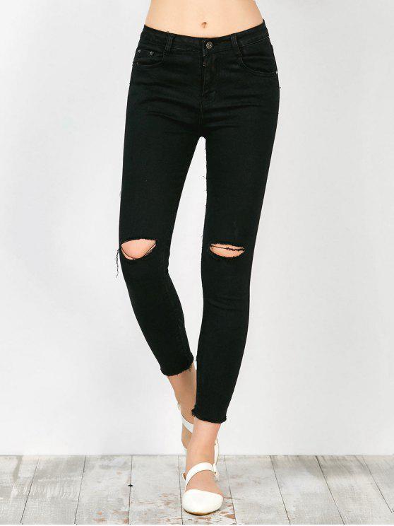 بنطلون جينز ضيق - أسود M