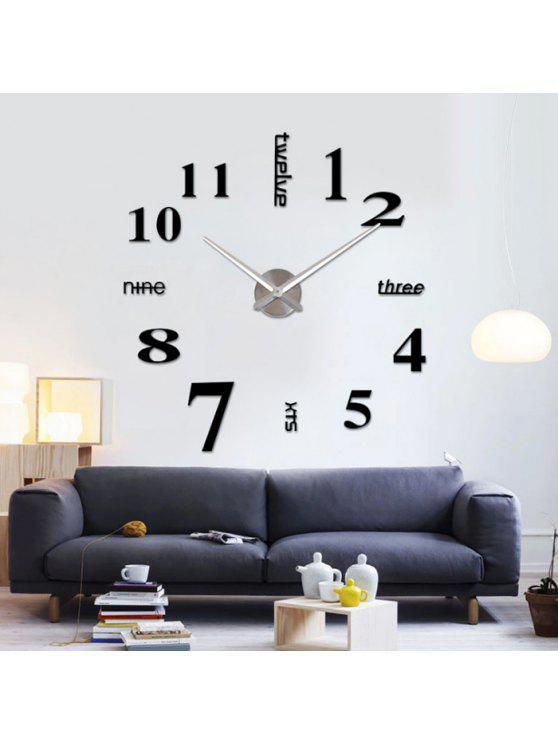 ديكور المنزل دي التناظرية عدد ساعة الحائط - أسود