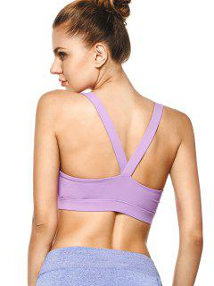 Pullover Sport Bra Sweat Top - Purple S