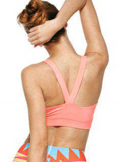 Pullover Sport Bra Sweat Top - Pink M