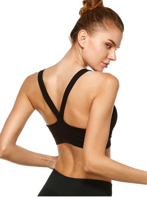 online Pullover Sport Bra Sweat Top - BLACK L Mobile