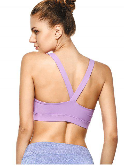 outfit Pullover Sport Bra Sweat Top - PURPLE XL Mobile