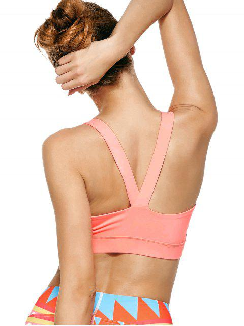 fashion Pullover Sport Bra Sweat Top - PINK M Mobile