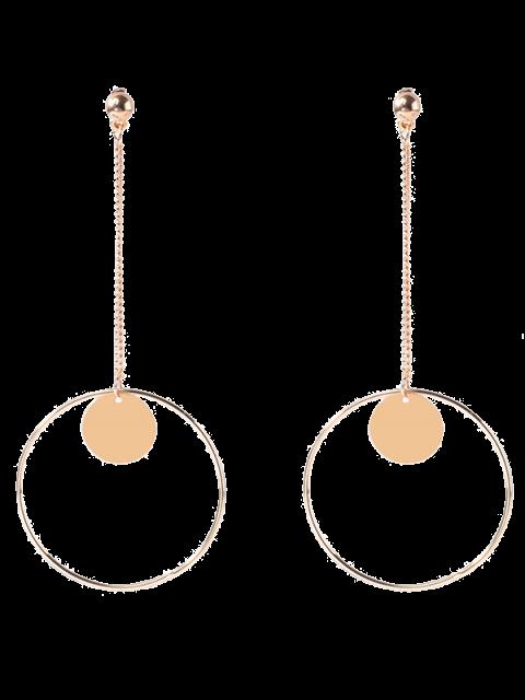 Cercle chaîne disque Boucles d'oreilles - Or  Mobile