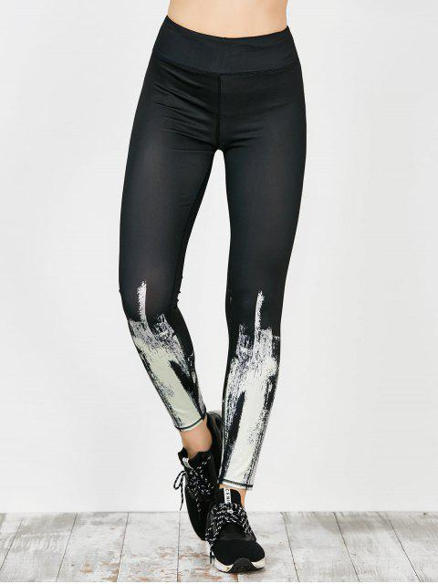 trendy Tie Dye Sport Running Leggings - WHITE M Mobile
