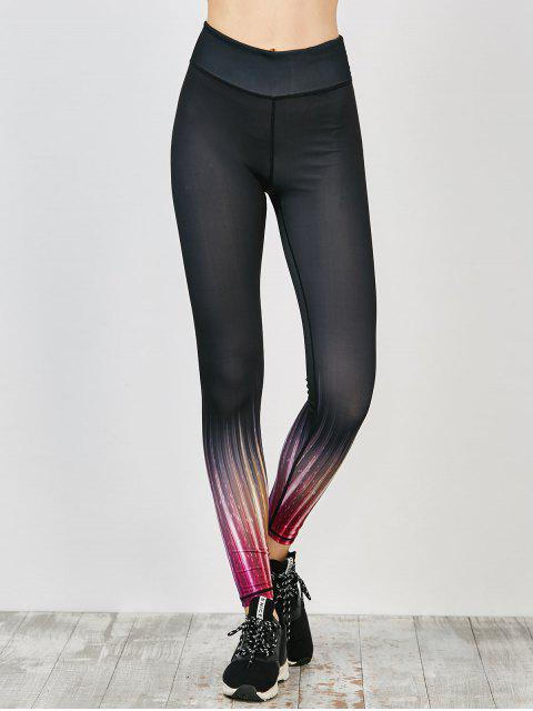outfit Colored Ombre Fitness Leggings - BLACK M Mobile