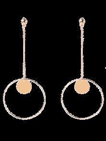 Cercle Chaîne Disque Boucles D'oreilles - Or