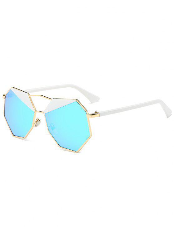 نظارة شمسية مضلعة غير منتظمة - جول الإطار + أزرق عدسة