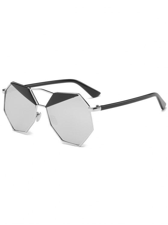 نظارة شمسية مضلعة غير منتظمة - الشظية الإطار + الزئبق عدسة