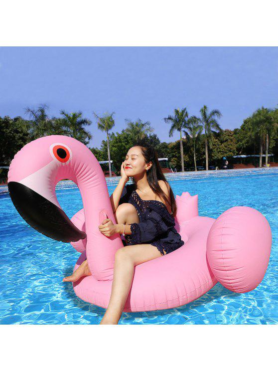 best Inflatable PVC Flamingo Shape Floating Row - PINK