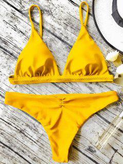 Ensemble De Bikini Paddé à Bretelle - Jaune M