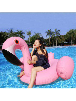 Inflatable PVC Flamingo Shape Floating Row - Pink