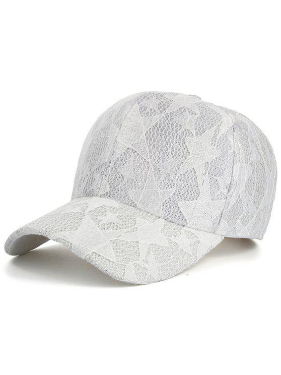 نجوم الدانتيل شبكة قبعة بيسبول - أبيض