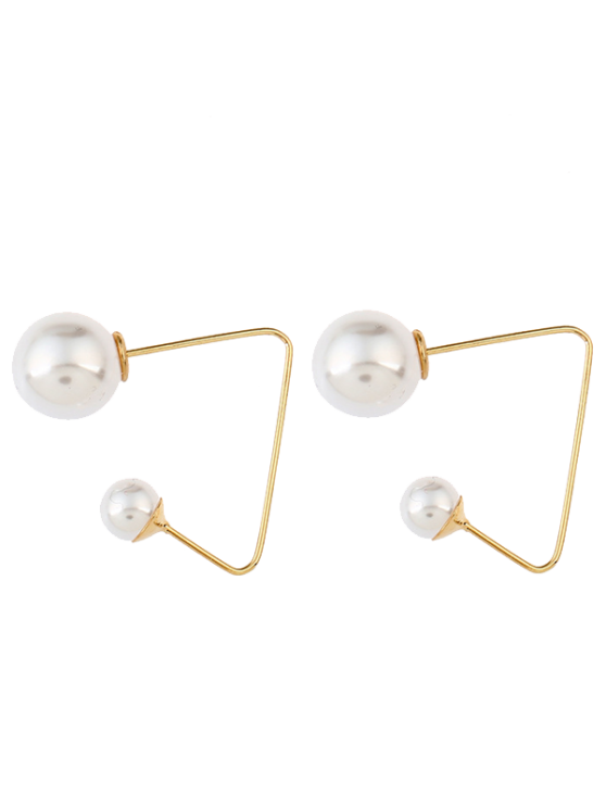 shops Artificial Pearl Ear Jackets - GOLDEN