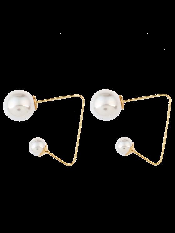 Künstliche Perlen-Ohr-Jacken - Golden
