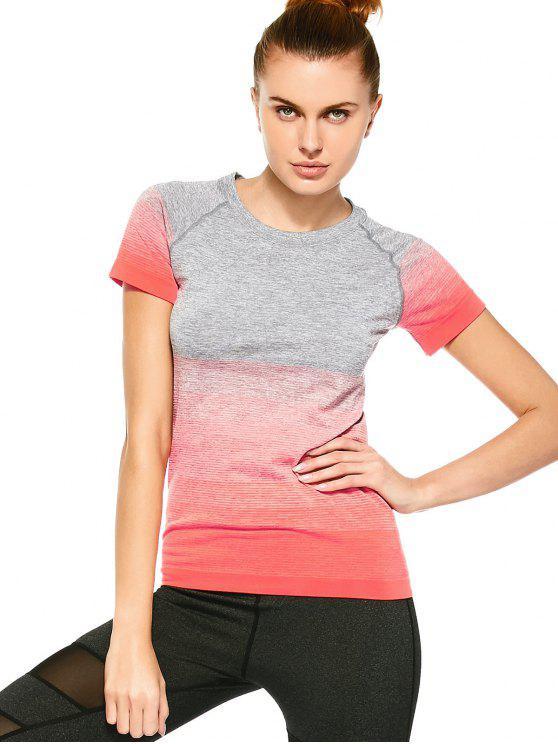 latest Striped Ombre Sports T-Shirt - JACINTH M