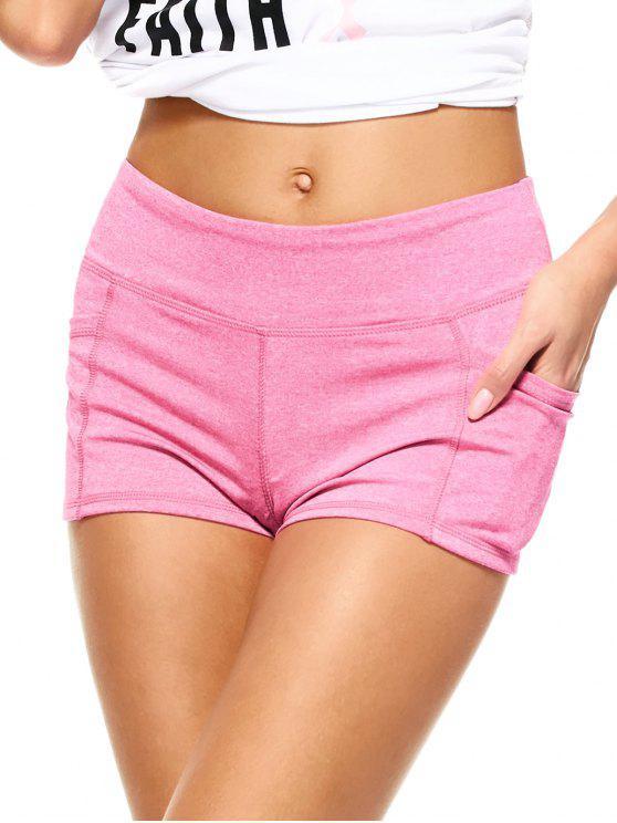 Brezo Deportes pantalones cortos con bolsillos - Rosa L