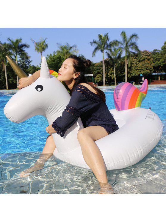 Inflável de PVC Unicorn Row flutuante Forma - Branco