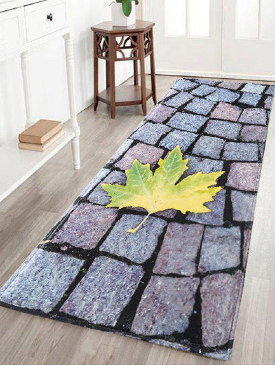 Las Large Stone Maple Leaf Flannel Antislip Bathroom Rug Colormix