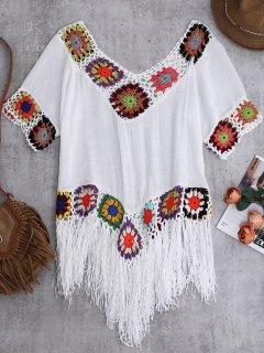 Crochet Beach Cover-Up Tunic - White