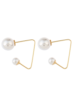 Artificial Pearl Ear Jackets - Golden