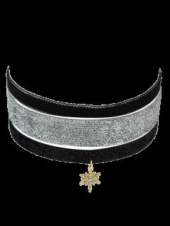 Falso Terciopelo Estrella De Cuero Juego De Collar Gargantilla - Dorado