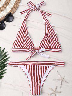 Bikini Rayé à Bretelles - Rouge S