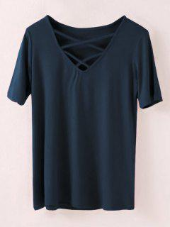 Strappy T-Shirt - Cadetblue M